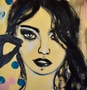 tableau personnages femme glamour celine marcoz visage : Femme Glamour