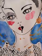 dessin personnages ange visage portrait celine marcoz : Visage Ange