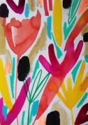 dessin fleurs abstrait celine marcoz : Fleurs