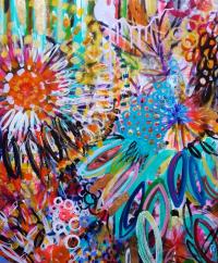 Art Abstrait Fleurs Jardin