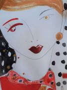 dessin personnages fille visage portrait celine marcoz : Portrait Fille