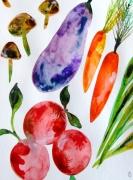 dessin nature morte legumes celine marcoz : Légumes
