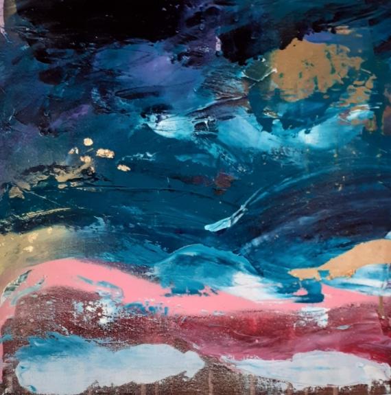 TABLEAU PEINTURE eau ciel céline marcoz art abstrait Paysages Acrylique  - Océan