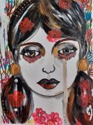 dessin personnages emotions visage tristesse celine marcoz : Tristesse