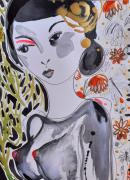 dessin nus femme nu visage celine marcoz : Femme