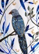 dessin animaux oiseau peinture oiseau art oiseau aquarelle oiseau bleu : Oiseau bleu