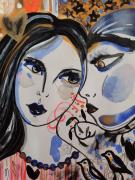 dessin personnages portraits couple amour celine marcoz : Portraits 2 Visages