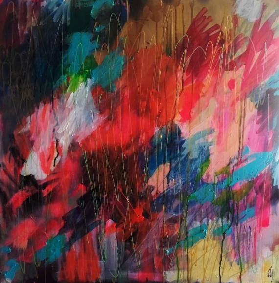 TABLEAU PEINTURE peinture abstraite abstrait céline marcoz paysage abstrait Abstrait Acrylique  - Paysage Abstrait