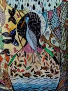 dessin paysages oiseau paysage ence art contemporain celine marcoz : Oiseau