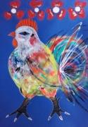 dessin animaux coq animal peinture coq celine marcoz : Coq