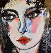 tableau personnages femme fille celine marcoz portrait : Femme