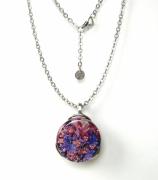 bijoux abstrait pendentif collier : Cyane Lilas