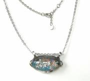 bijoux abstrait pendentif collier fleur cristal : Cyane Lagon