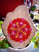autres mandala tibet bienetre pointillisme : Mandala bois