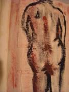 autres nus de dos fesses : dos contre le mur