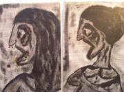 tableau : Autoportraits crachés