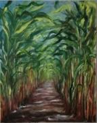 tableau paysages champ nature chemin paysage : Sur le chemin