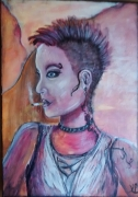tableau personnages punk tatouee : nouvelle eve