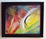 tableau abstrait abstrait artefact forme : Arte fact