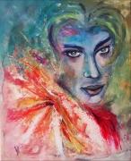 tableau personnages dandy jeune homme abstrait : Dandy