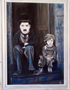 tableau personnages chaplin enfant : charlot et l'enfant