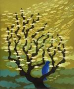 """tableau autres melancolie arbre oiseau : """"Mélancolie"""" , """"Melancholy"""""""