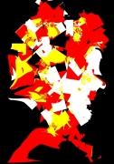 tableau personnages dessin gravure art numerique tableau alu : MR TETE FRACASEE
