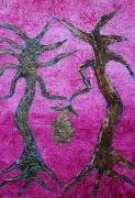 artisanat dart personnages cire vegetale bois ecorces tableau creation saint valentin : ST VALENTIN chez les ARBRES AMOUREUX