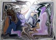 dessin scene de genre lichens argente art mixte dessin atelier chantemerle loir et cher : ROUTE VERS L'ETERNEL