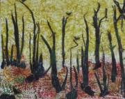 tableau paysages ecorces cedre bouleau arbre tableau creation cire vegetale : BOIS TRAUMATISE