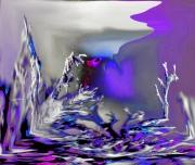 art numerique paysages lichens argente art mixte dessin atelier chantemerle loir et cher : HOMMAGE A LA FEMME
