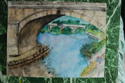 tableau paysages pont riviere : Ponts de Loire
