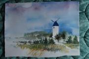 tableau paysages moulin : Mon moulin