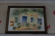 tableau paysages maison jardin : Mon jardin d'été 2