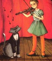 Violon et chat