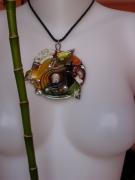 bijoux spirale resine zig zagora : spirale d'automne