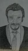 dessin personnages : Johnny Hallyday N° 2