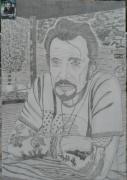 dessin personnages : Johnny Hallyday N° 76