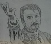 dessin personnages : Johnny Hallyday N° 6