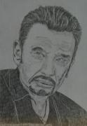 dessin personnages : Johnny Hallyday N° 3