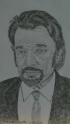 dessin personnages los angeles 17 02 2015 : Johnny Hallyday N° 1