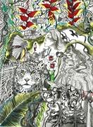 tableau jungle borneo amazonie incendies : Forêts