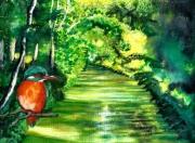tableau paysages marais picardie martinpecheur nature : Au coeur des marais
