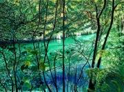 tableau paysages gorges verdon vert bleu sentier : La vie secrète du Verdon