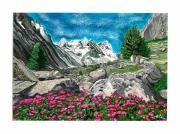 tableau paysages mercantour vallee rochers provence : Mercantour : la vallée des Merveilles