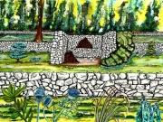 tableau paysages provence restanques ete nature : Dans la campagne provençale