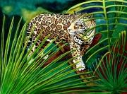 tableau animaux jaguar amazonie figuratif : Le jaguar, seigneur de la jungle amazonienne