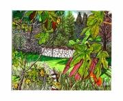 tableau paysages cabanon var provence passe partout : Cabanon caché derrière les figuiers