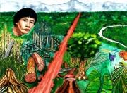tableau paysages amazonie incendie deforestation survie : L'Amazonie en péril
