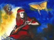 tableau personnages pastorius bassiste portrait jazzman : Jaco Pastorius